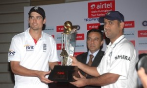 Airtel India - England Test & T20 Cricket Series Trophy unveiled
